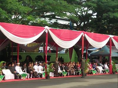 Danrem 043/Gatam Pimpin Upacara HUT TNI ke-73