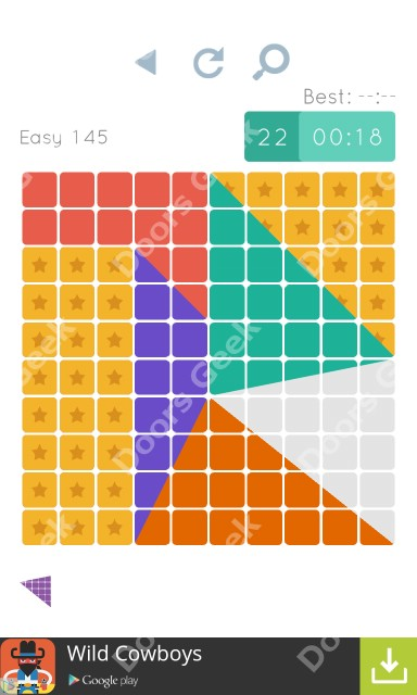Cheats, Walkthrough for Blocks and Shapes Level 145