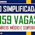 SECRETARIA DE EDUCAÇÃO E ESPORTES ABRE SELEÇÃO COM 159 VAGAS DE NÍVEIS MÉDIO E SUPERIOR