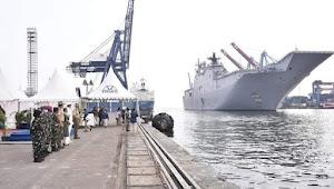 Kapal perang angkatan laut Australia berada di Indonesia dalam rangka apa?