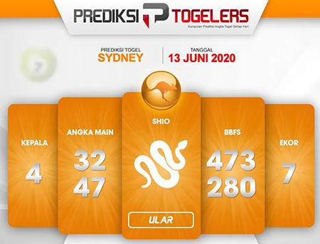 Bocoran Sydney Sabtu 13 Juni 2020 - Prediksi Togelers
