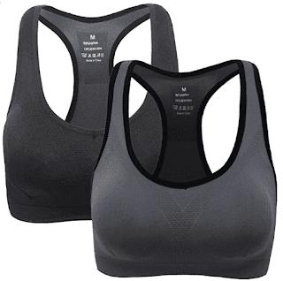 $10.49, Women Racerback Sports Bras, High Impact Workout Gym Activewear Bra at Amazon Women's Clothing store