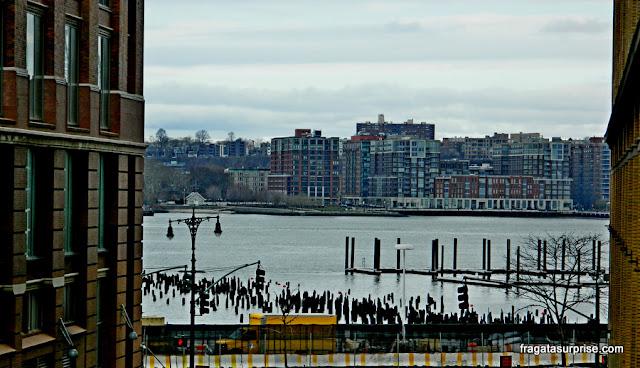Vista para o Rio Hudson no High Line, Nova York