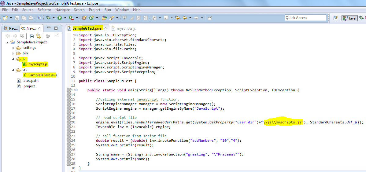 Java - Call javascript functions from java | Automation Home