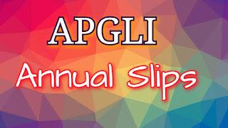 APGLI Annual Slips | APGLI Slips