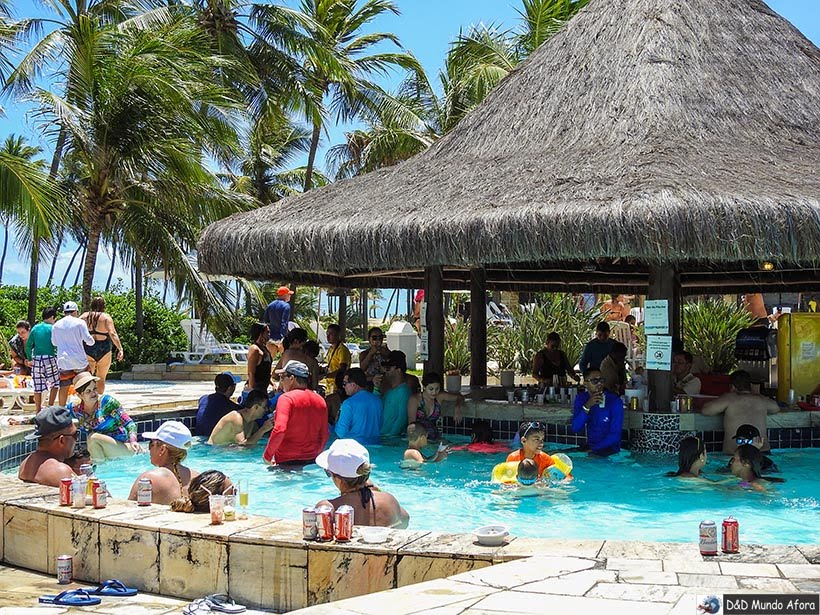 Bar molhado do Costa do Sauípe - resort all inclusive na Bahia - ala Terra