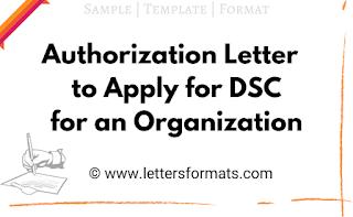 organization authorization letter for dsc