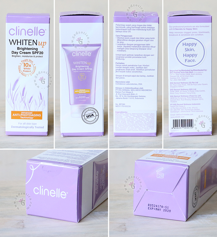 Review CLINELLE WHITENUP BRIGHTENING DAY CREAM