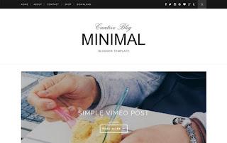 Minimal Clean & Responsive Blogger Template