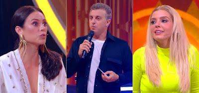 Caldeirão do Huck: Luciano Huck se assusta com visual de Paolla Oliveira e Giovanna Lancellotti