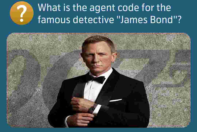 What is the agent code for the famous detective ''James Bond''?