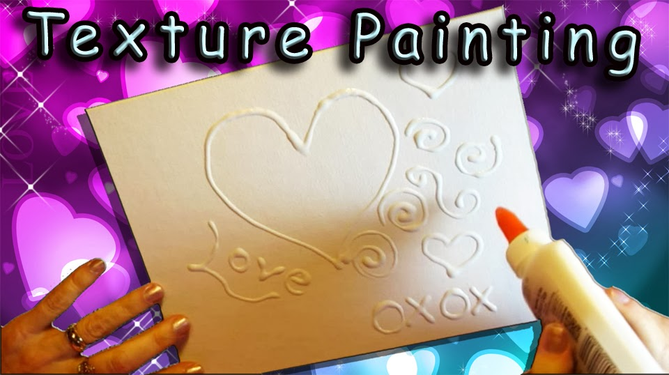 DIY Texture Painting With Glue