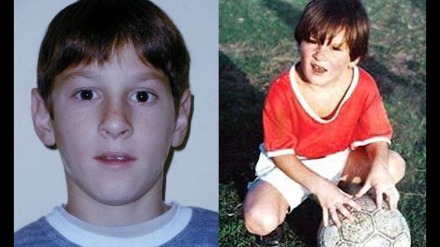 Lionel Messi when he was a kid