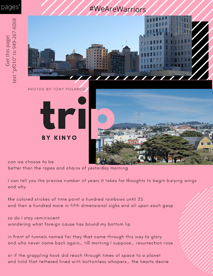 A New Poem from Kinyo is Combined with the Memories of Tony Polanco in the New page 'Trip'
