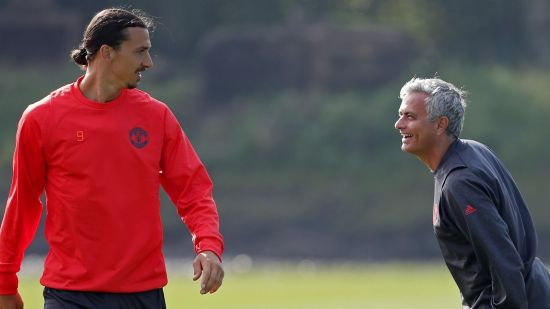 Zlatan Ibrahimovic And Jose Mourinho at Manchester United