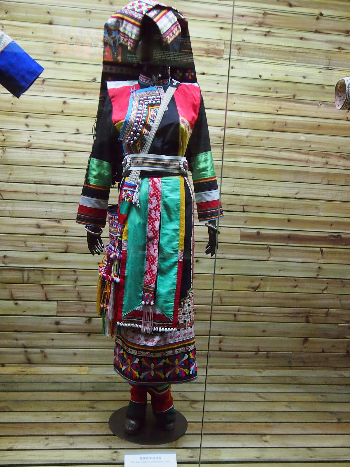 An Yi Minority outfit from the Yunnan Nationalities Museum