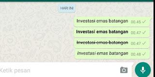 Tulisan miring WhatsApp, tulisan unik
