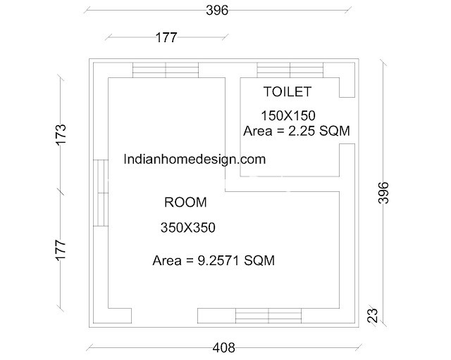 Ultra Low Cost 175 Sqft House Plan Below One Lakh Budget