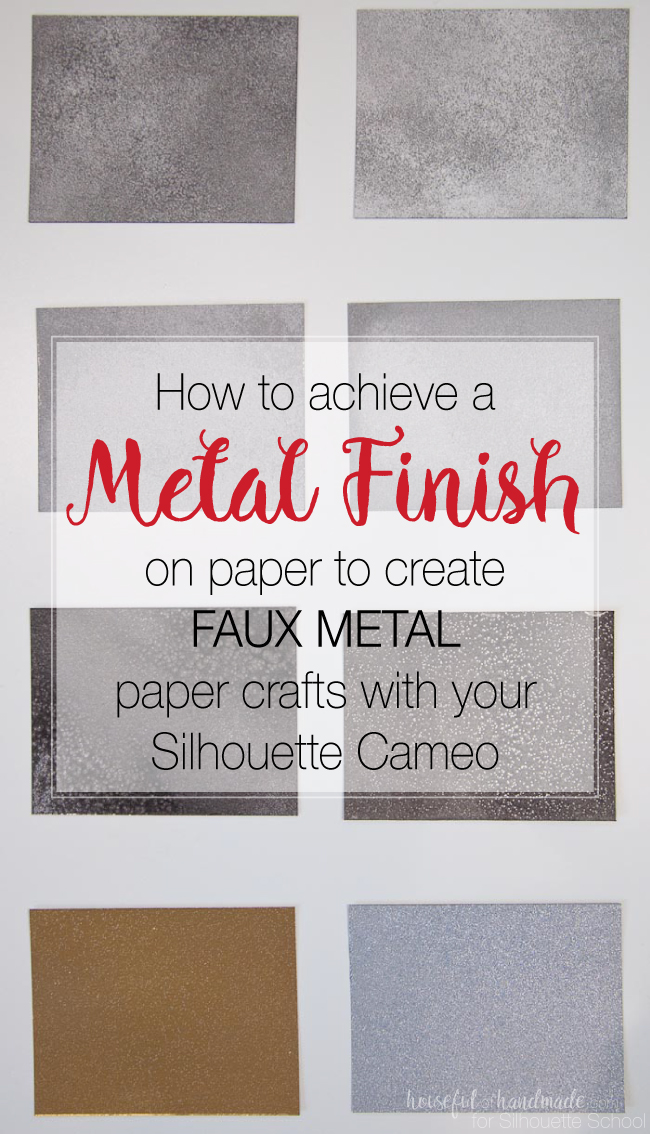 make paper look like metal, metal finish paper, silhouette cameo, silhouettte portrait