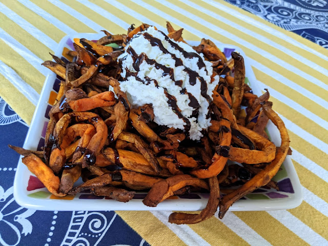 Sweet potatoes with whipped cream