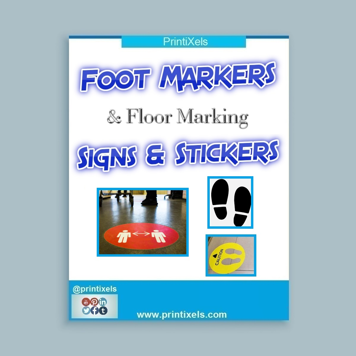 Foot Markers & Floor Marking Signs & Stickers Philippines
