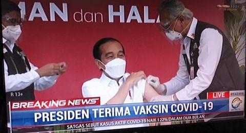 Ketum IDI: Presiden Jokowi Tidak Ada Keluhan & Efek Setelah Disuntik Vaksin Covid-19
