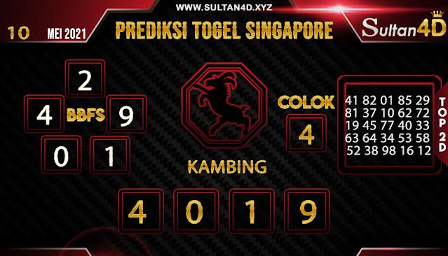 PREDIKSI TOGEL SINGAPORE SULTAN4D 10 MEI 2021