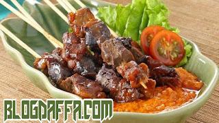 Sajian sate sarapeh menu lebaran haji