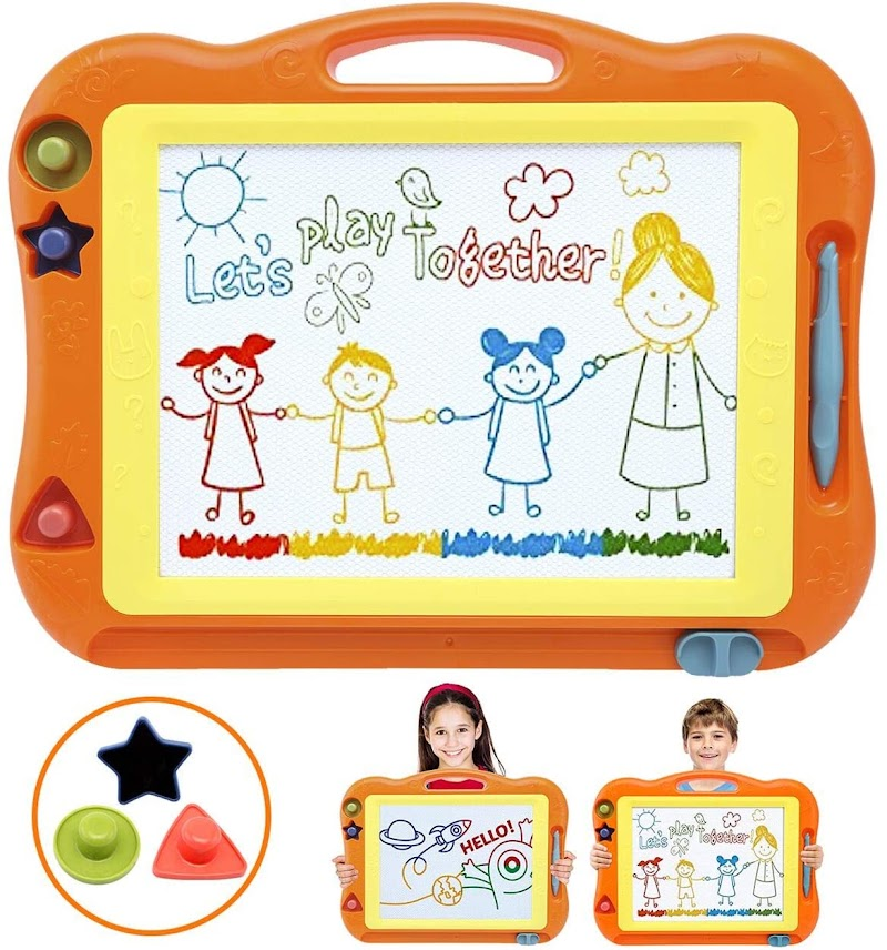 35% off Toddler Toys for Boys Girls Magnetic Drawing Board, 17 Inch Large Magna Erasable Doodle for Toddlers A Colorful Etch Education Sketch Writing Board Toddler Toys for Age 3 4 5 6 7 Year Old Boy Girl