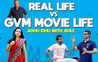 Real life vs GVM Movie Life | Adhu Idhu with Ayaz | Black Sheep