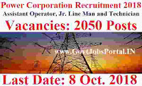 Power Corporation Recruitment 2018
