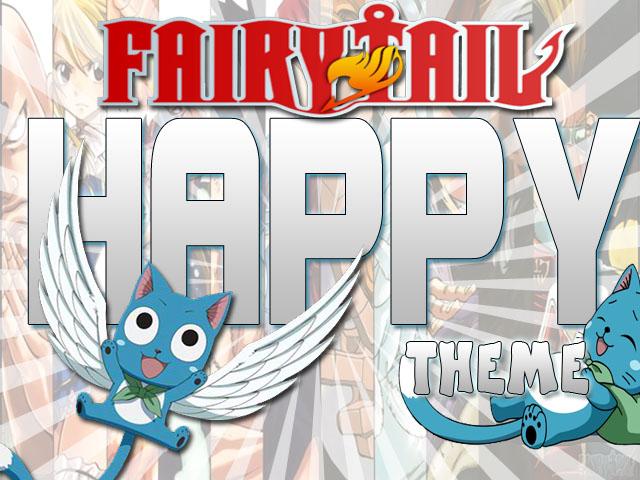 Happy Fairy Tail Smile Flying Cat