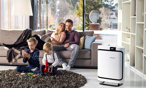 Máy lọc không khí BONECO P400 giúp lọc sạch 99,97% ô nhiễm không khí trong phòng