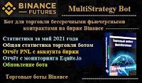 MultiStrategy Bot для бессрочных фьючерсных контрактов биржи Binance - статистика торговли за май 2021 года + общая статистика + PNL + обновление бота