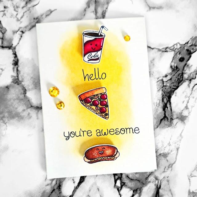 Sunny Studio Stamps: Fast Food Fun Customer Card by Bastel Brina