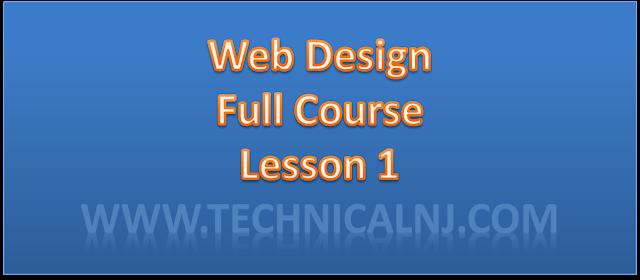 Web Design L-1, Basic of WebDesign - Technical NJ
