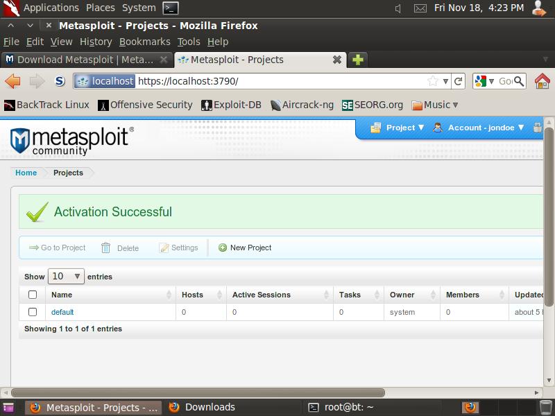 ICTechNotes: Installing Metasploit Community Edition (on