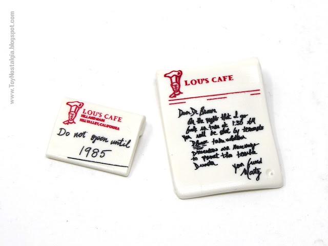 Carta y Sobre de LOU'S Café Playmobil Volver al Futuro - Calendario de Adviento (Playmobil Back To The Future - Calendario de Adviento)