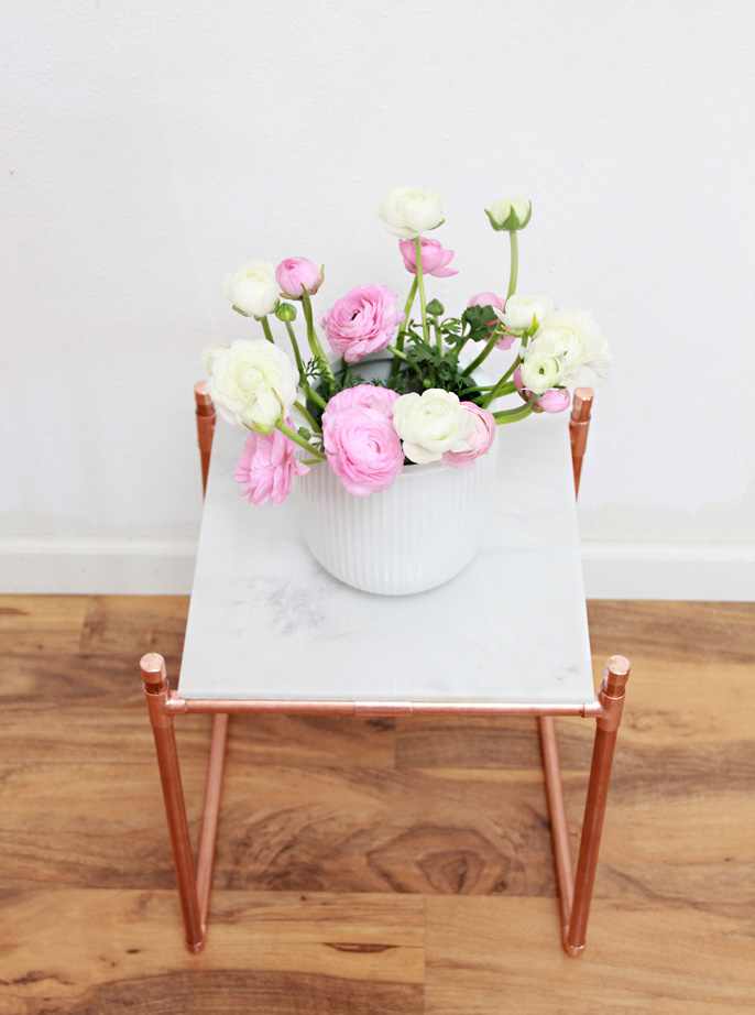 A Bubbly Life Diy Copper Pipe Marble Plant Stand
