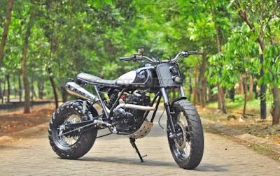 Modifikasi Yamaha Scorpio Z Scrambler