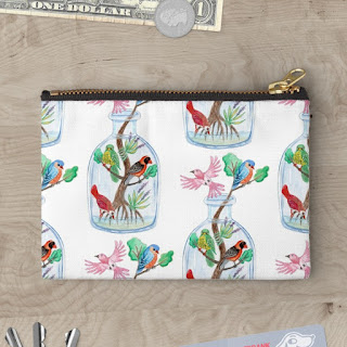 Birds in a Bottle zipper pouch