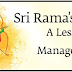 Sri Rama's Life - A Lesson in Inner Management
