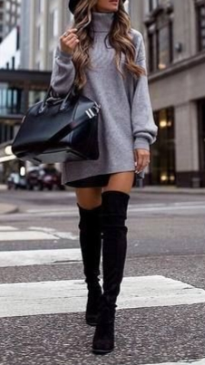 Trendy leggings winter outfit casual