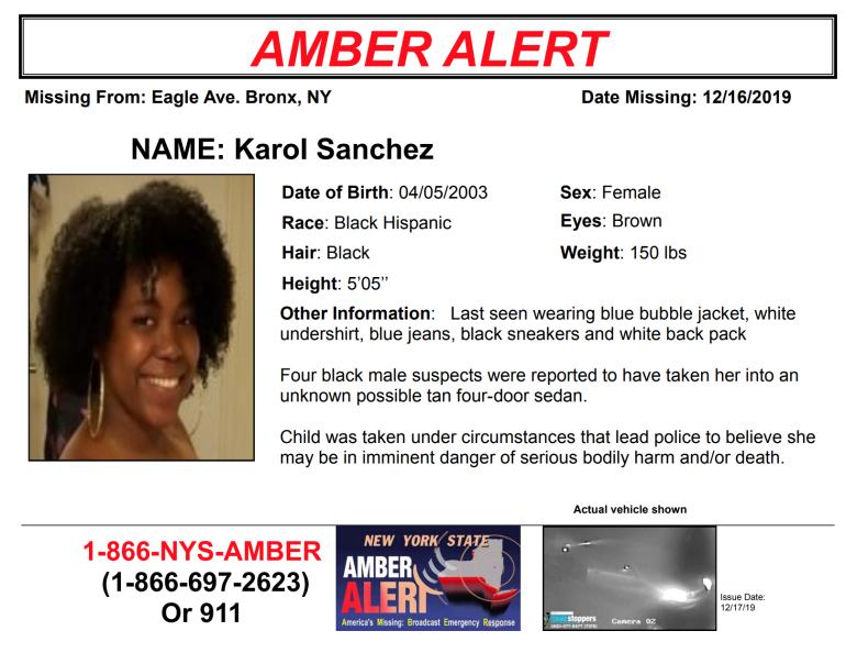 An Amber Alert Was Issued Tuesday Morning