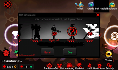 League of Stickman 2017 v3.0.1 Mod Apk Unlimited Money + Gems