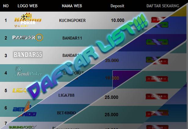Gamblingpoker Kumpulan Daftar List Situs Judi Online