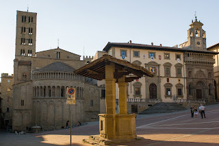Arezzo's sloping Piazza Grande is regarded as one of the most beautiful squares in Tuscany