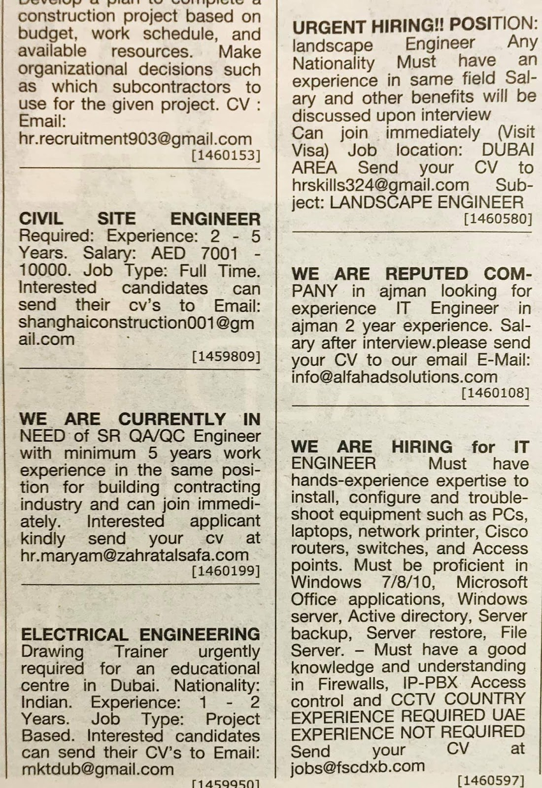 Required Candidates for UAE Local Hiring Jobs Khaleej Times
