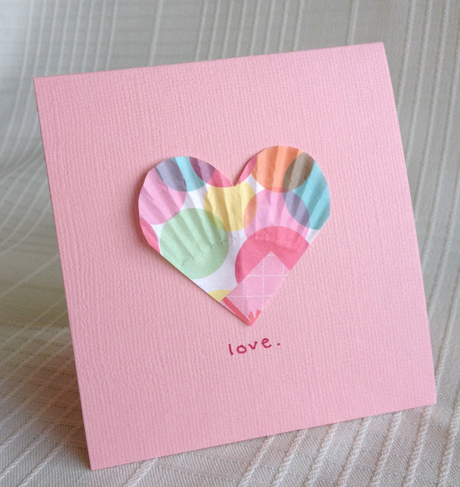 Be Brave Keep Going Easy Valentines Craft Paper Liner Hearts