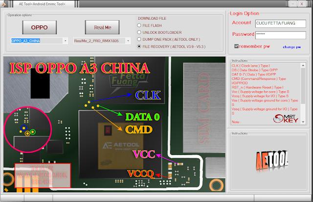 MRT Key Emmc ISP Pinout Tool